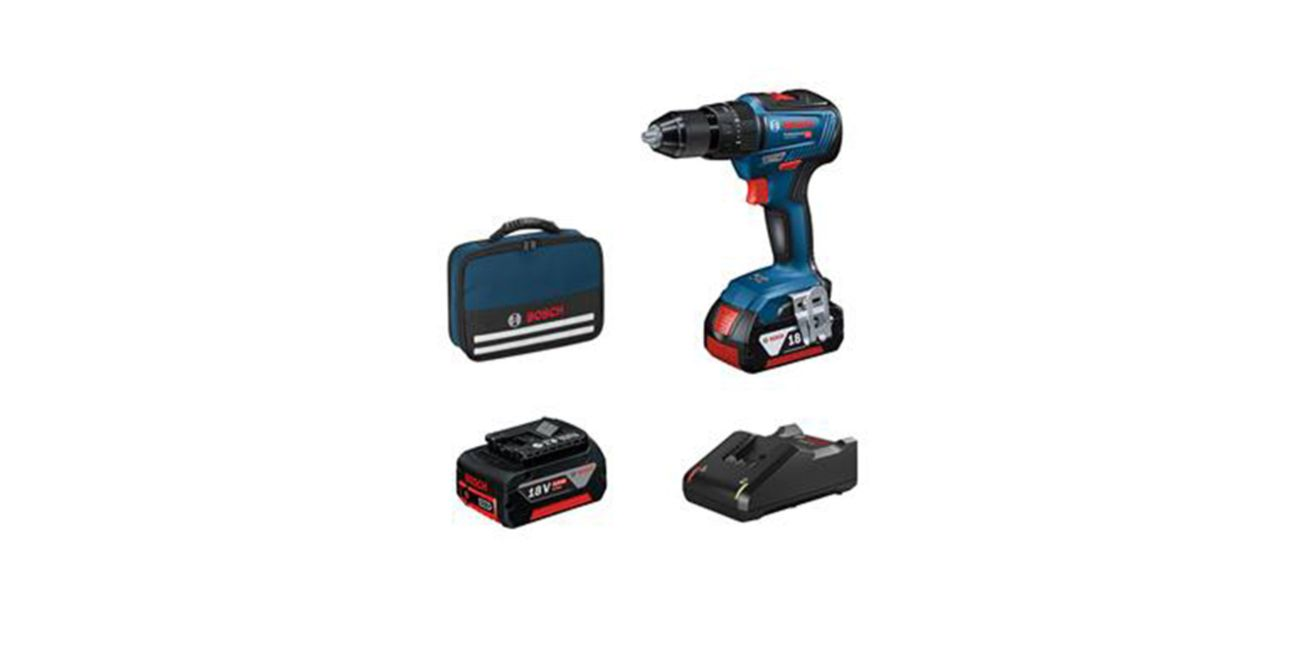 Professional Cordless 18V Hammer Drill Kit including 2 x 4.0ah Lithium Ion Batteries and Charger 18V-55