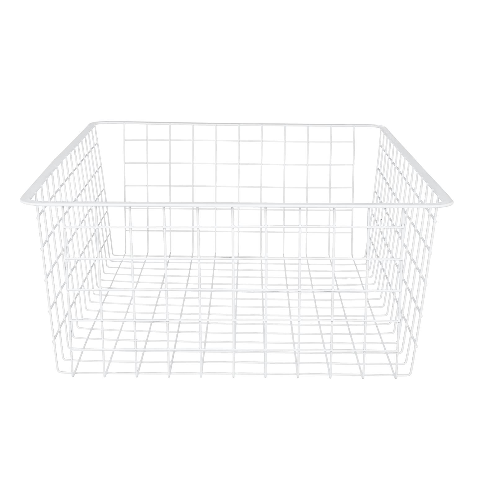 Flexi Storage 185mm White 2 Runner Wire Basket