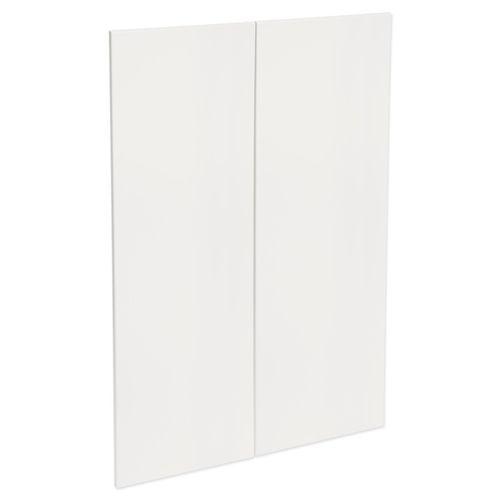 Kaboodle 450mm Gloss White Modern Medium Pantry Doors - 2 Pack