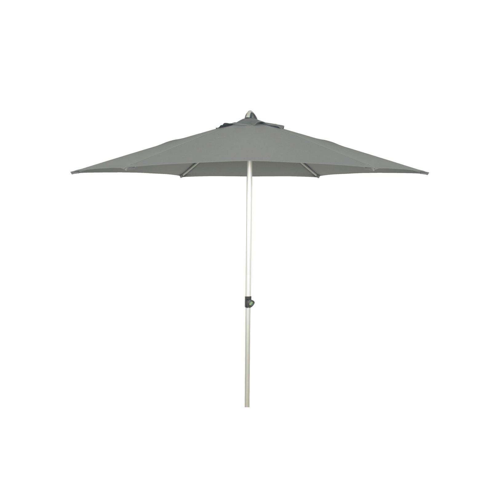 Coolaroo 2.7m Charcoal Chelsea Round Market Umbrella
