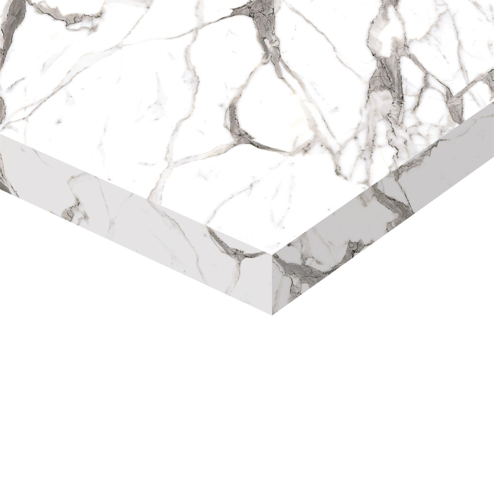 Kaboodle 20 x 300 - 600mm Single Calcutta Gloss Square Edge Benchtop