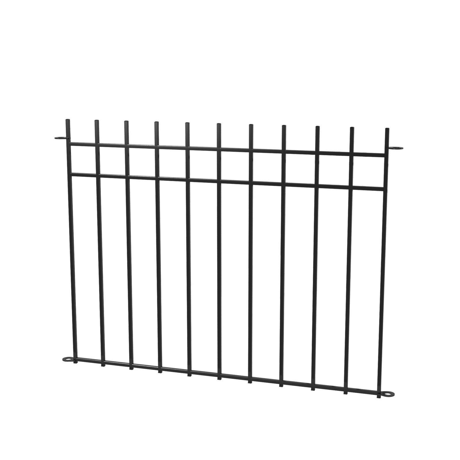 Peak Products 1200mm Black No-Dig Fencing Manchester Fence Panel