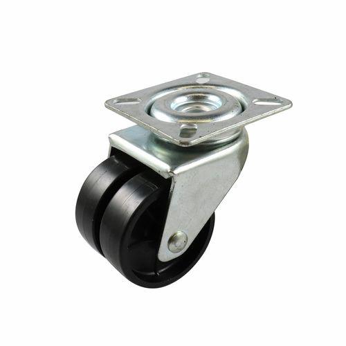 Move It 50mm 70kg Black Twin Wheel Swivel Plate Castor