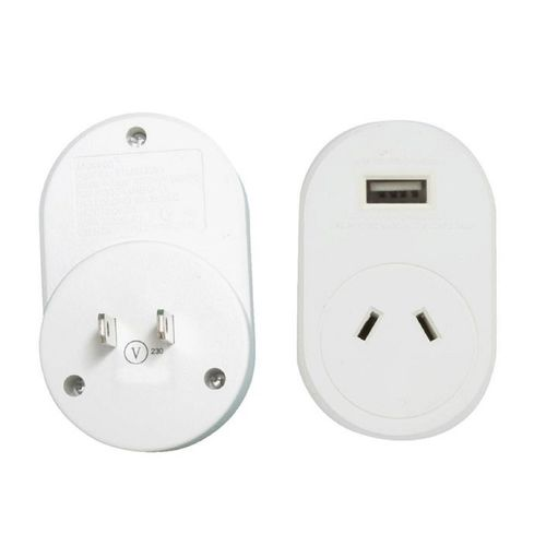 Jackson International Travel Adaptor + USB Charging Outlet For Australian And New Zealand Travellers