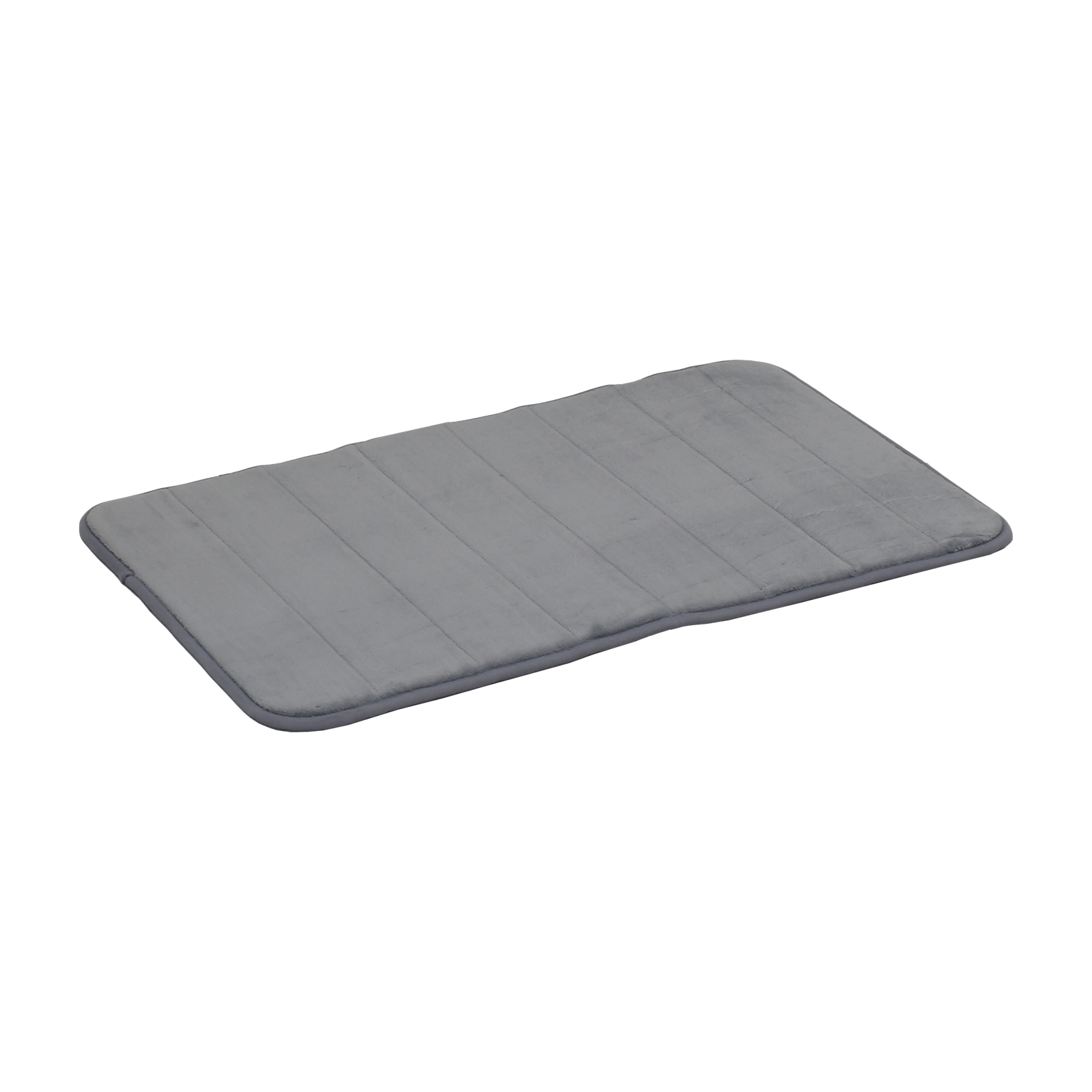 Softouch 800 x 500mm Grey Monarch Memory Foam Bathmat