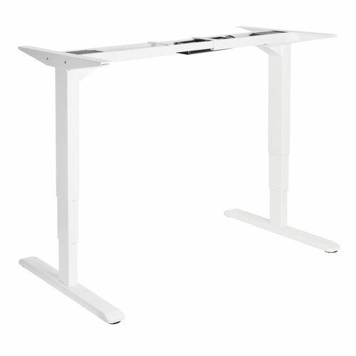 Ergovida White Dual Motor Sit Stand Workstation Frame
