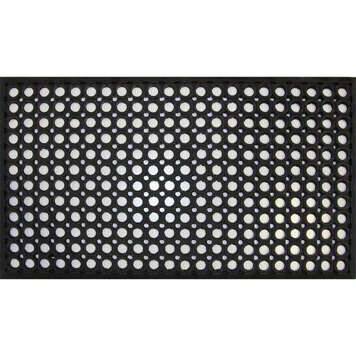 Bayliss 40 x 70cm Black Rubber Circle Mat