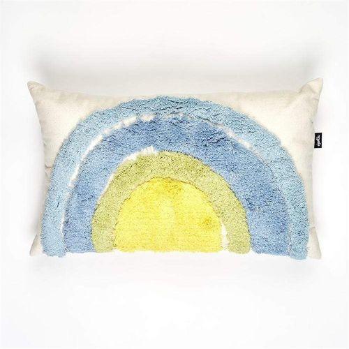 Jewelchic Tuft Rainbow Cushion Cool