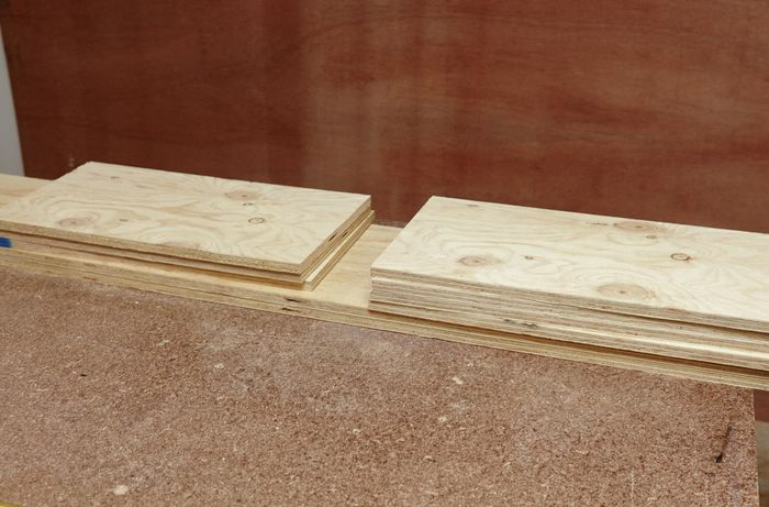 Lengths of plywood cut to size