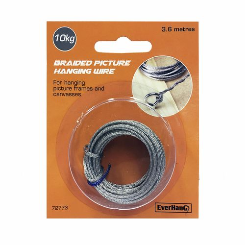 Everhang 3.6m 10kg Load Braided Picture Hanging Wire