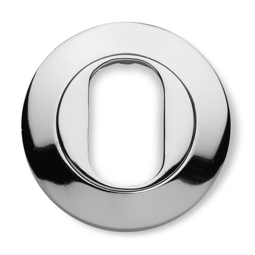 Lemaar 53mm Satin Chrome Round Oval Escutcheon