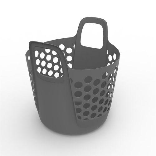 Ezy Storage 37L Flexi Laundry Basket - Grey