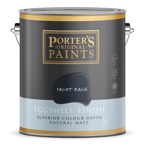Porter's 2L Yacht Race Eggshell Finish Broadwall Washable Paint