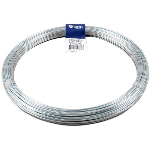 Whites 1.57mm x 60m 1kg Galvanised Tie Wire