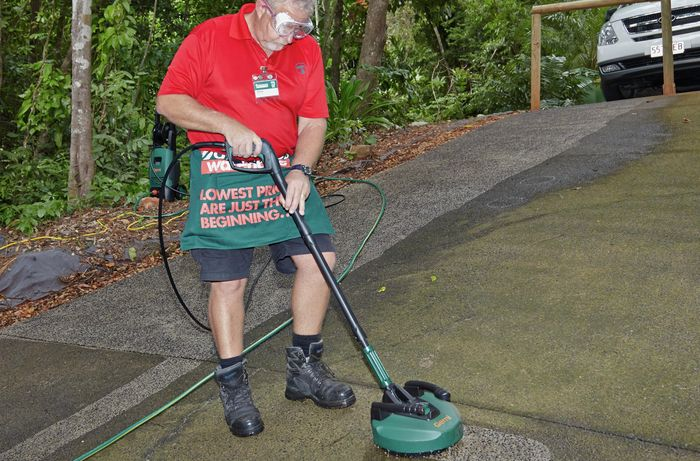 DIY Step Image - How to clean a concrete driveway in the tropics . Blob storage upload.