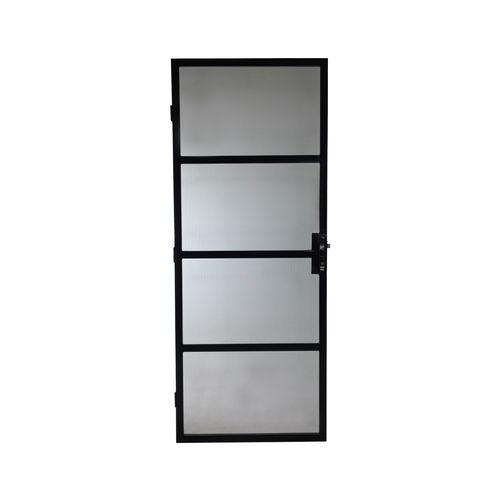 Polar 2024 x 806mm Black Torquay Imperial Steel Screen Door