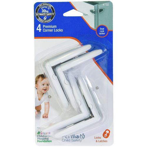 Perma Child Safety Premium Corner Locks - 4 Pack