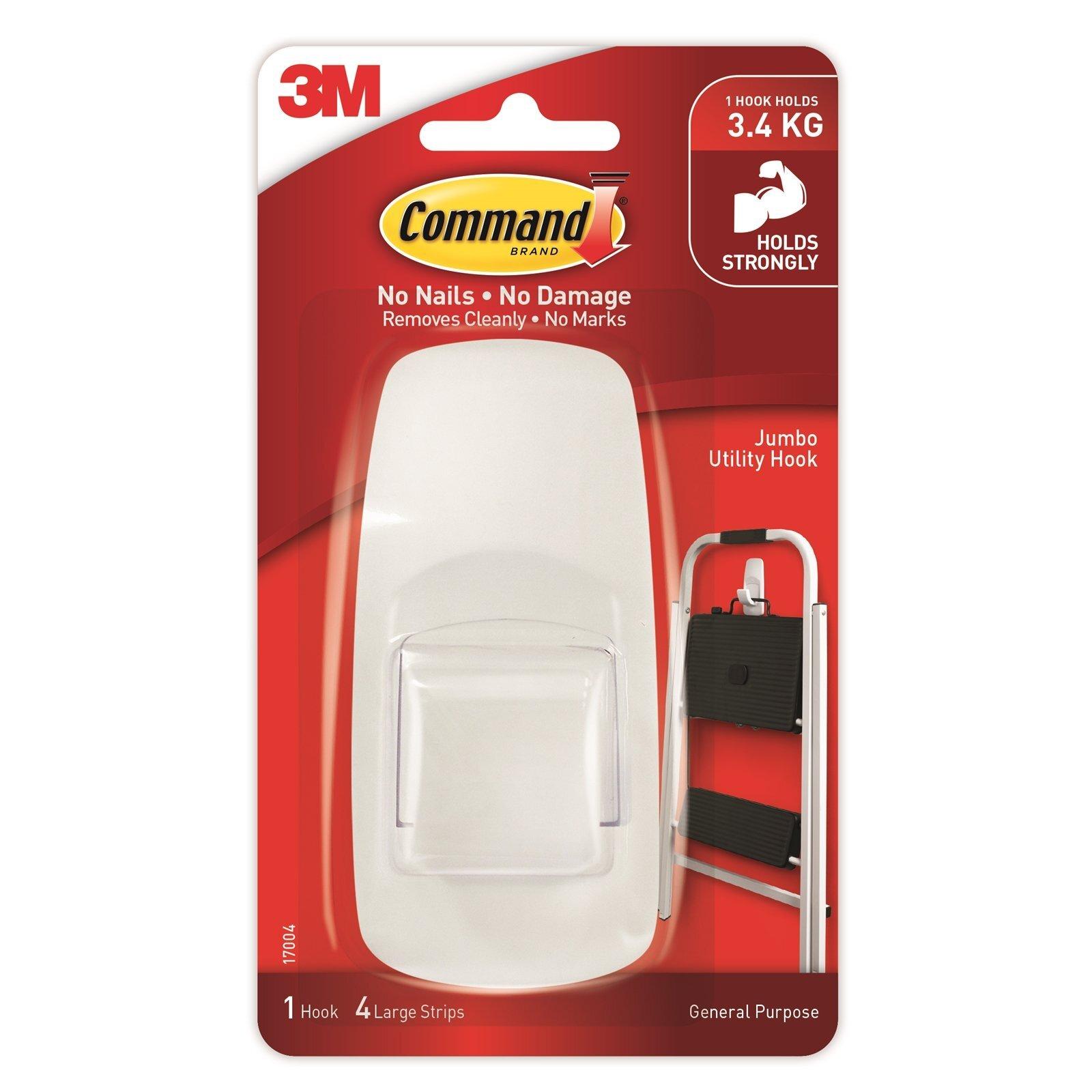Command™ Jumbo White Hook
