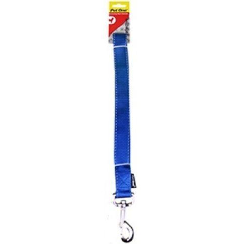 Dog Leash Lead Reflective Nylon - Blue - 25mm x 120cm (Pet One)