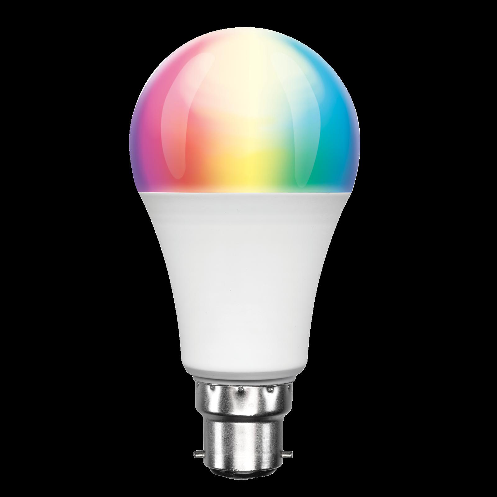 Brilliant 8.5W B22 Colour And White Smart Globe