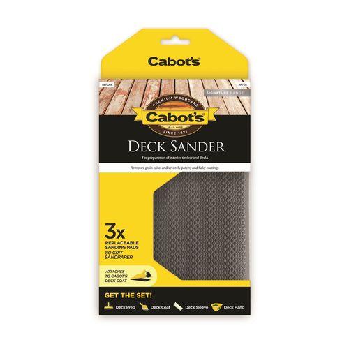 Cabot's 80 Grit Deck Sander Sanding Pads - 3 Pack