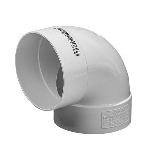 Holman 75mm 90° Female and Female PVC Stormwater Plain Elbow
