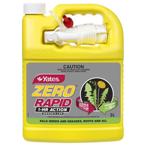 Yates 3L Ready To Use Zero Rapid 1 Hour Action Weed Killer