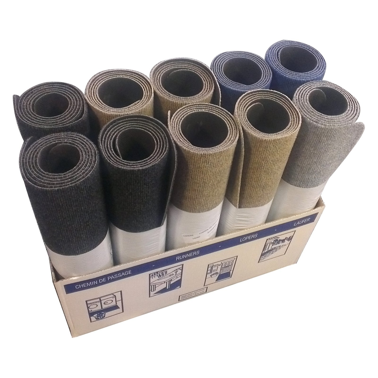 Ideal DIY Floors 60 x 180cm Kitchen Laundry Ribbed Carpet Runner Piece