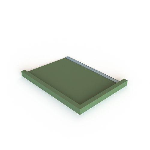 Stein 1000 x 1000mm RH Channel Drain QuickTile Shower Tray