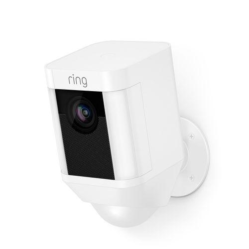 Ring White Battery Spotlight Camera
