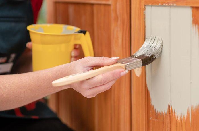 Painting a timber door