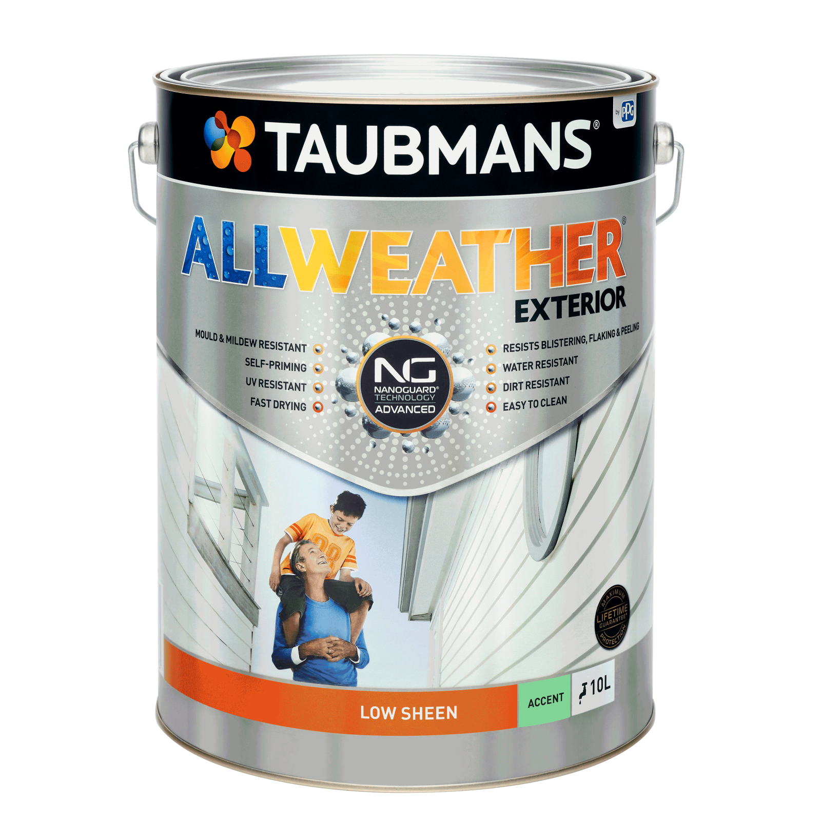 Taubmans 10L Accent Low Sheen All Weather Exterior Paint