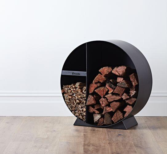 Circular wood storage container