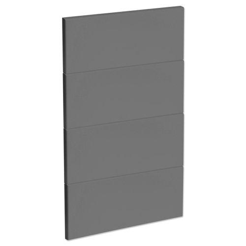 Kaboodle 450mm Smoked Grey Modern 4 Drawer Panels