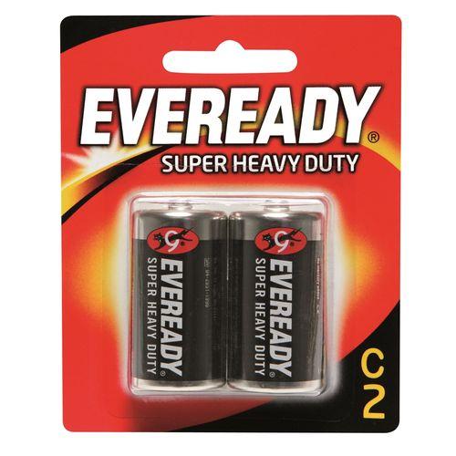 Eveready C Super Heavy Duty Battery - 2 Pack