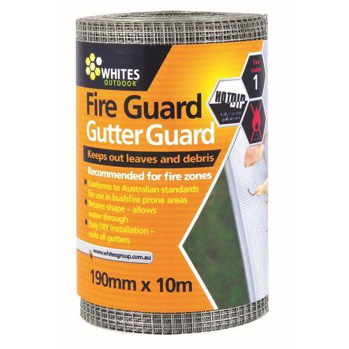 Whites 190mm x 10m Fire Guard Gutter Mesh