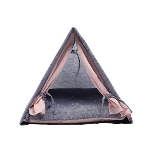 Charlie's Cat Tent House Grey & Pink - 50x45x48cm