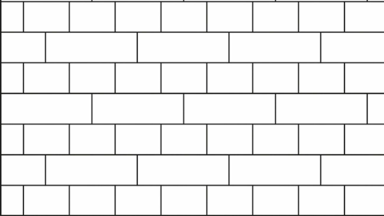 English cross bond tile pattern