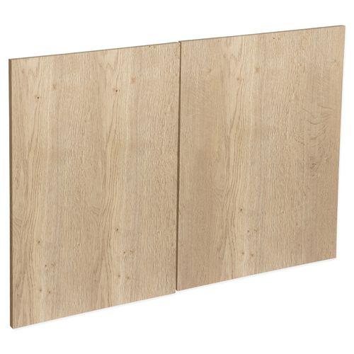 Kaboodle 900mm Hazelnut V Modern Rangehood Cabinet Doors - 2 Pack
