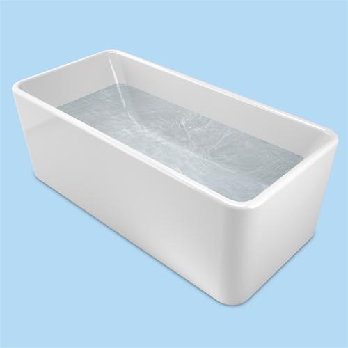 Caroma Cube Freestanding Bath 1600mm White