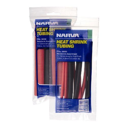 Narva Heat Shrink Tubing 12pc Assorted
