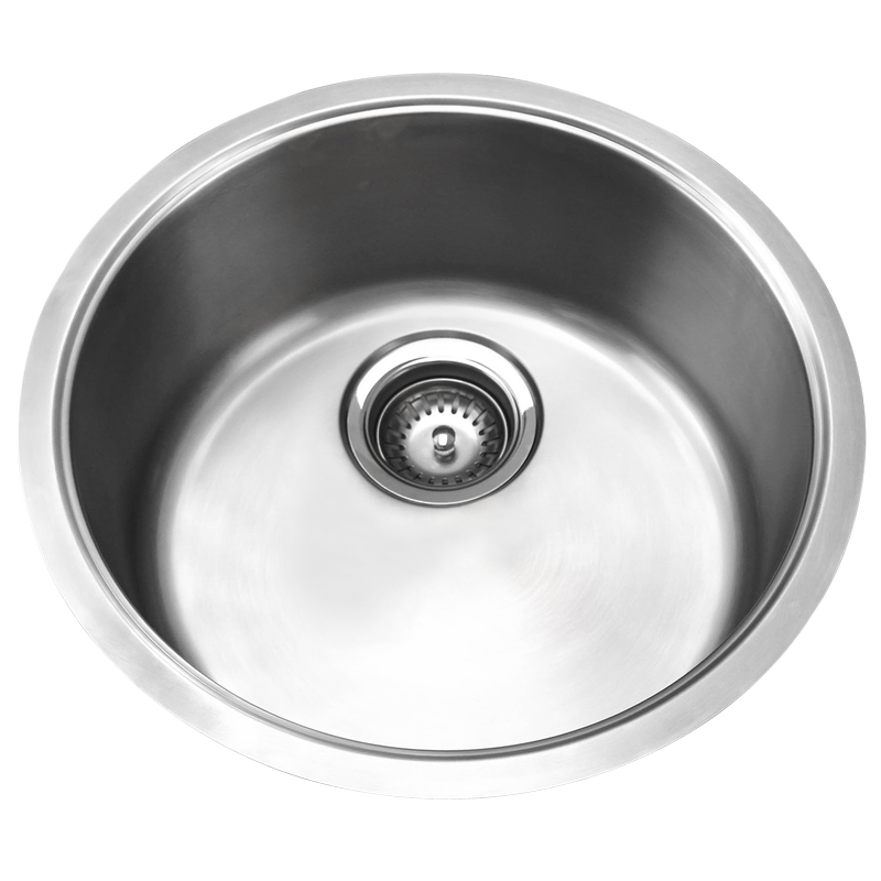 Resonance Single Round Stainless Steel Bowl Sink