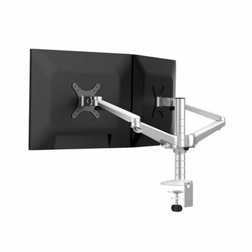 "TODO 14""- 27"" Aluminium Dual Monitor Bracket Stand Desk Mount Tilt / Rotate"