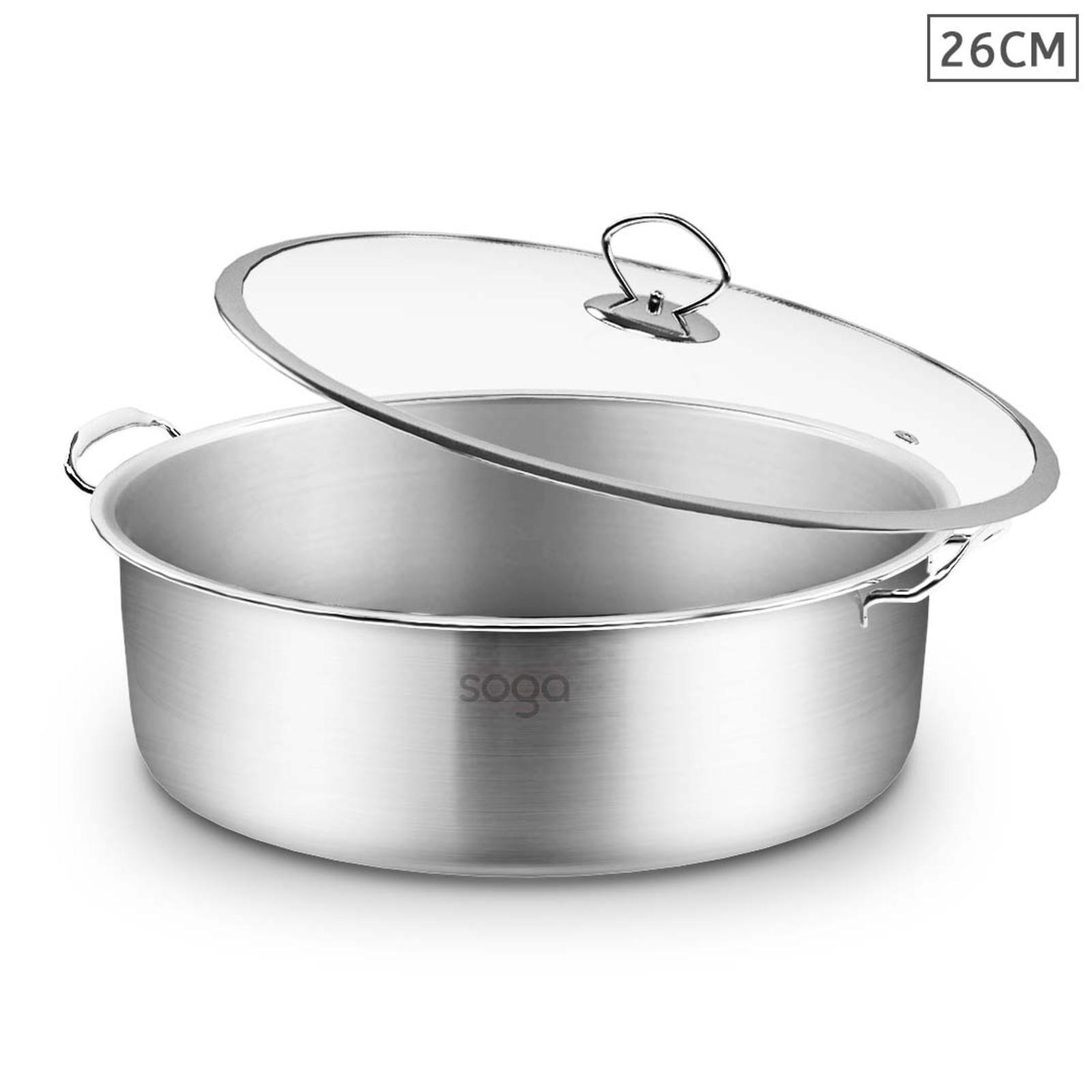 SOGA 26cm Stainless Steel Casserole
