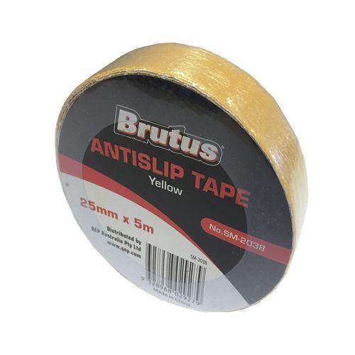 Brutus 25mm x 5m Anti Slip Tape - Yellow