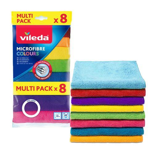 Vileda Colours Microfibre Cloths - 8 Pack