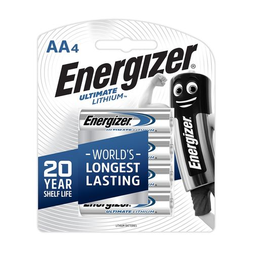Energizer Ultimate Lithium AA Battery - 4 Pack