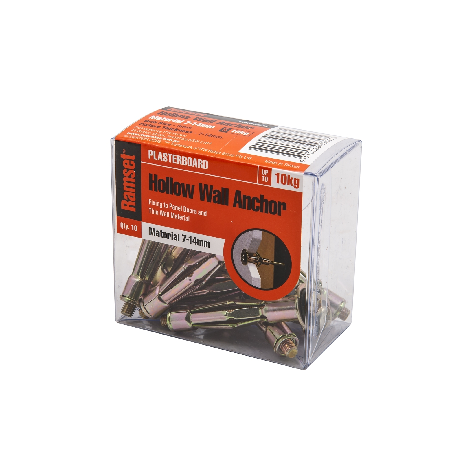 Ramset M5 x 9mm Hollow Wall Anchor - 10 Pack
