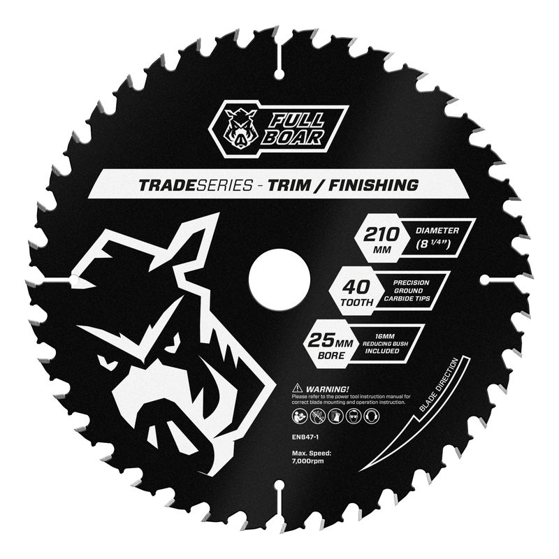 210mm 40t Trade Series Mitre Saw Blade