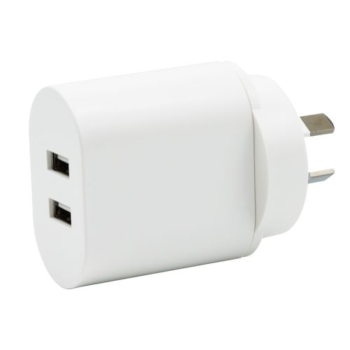 Click 2.4A Dual USB Wall Charger
